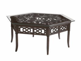 Black Sands TH-3235-943GT-TB Hexagonal Cocktail Table Glass & Table Base Frame only