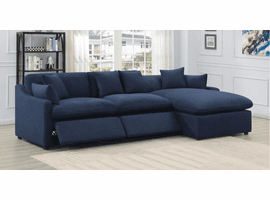 Blue Power Sectional Sofa 3PC