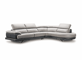 Cecile ITALIAN Leather Sectional | Creative Furniture