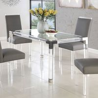 CHANTILY 4431 Clear Glass Dining Table