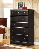CLEARANCE ASHLEY BLACK Five Drawer Chest