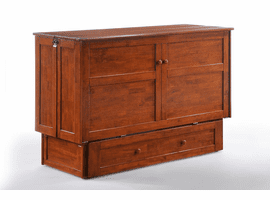 CLOVER Murphy Cabinet Bed/ WHITE , CHERRY OR CHOCOLATE
