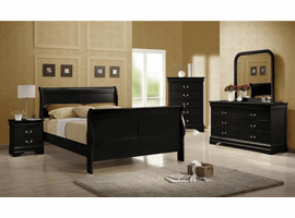 COASTER 203961Q-S4 BEDROOM SET 4PC (QUEEN BED + NIGHT STAND + DRESSER AND MIRROR)