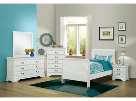 COASTER 204691T-S4 TWIN 4PC SET (T.BED,NS,DR,MR)