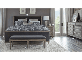 COASTER 223121Q FRENCH GREY UPHOLSTERED QUEEN BED