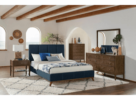 COASTER 300626Q BLUE UPHOLSTERED QUEEN BED