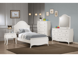 COASTER 400561T-S4 YOUTH TWIN BED ROOM 4PC SET (TWIN BED + NIGHT STAND + DRESSER AND MIRROR)