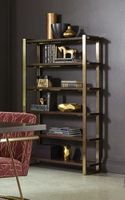 Coaster 804543 Walnut Wooden and  Rose Brass Base BOOKCASE