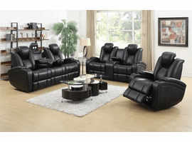 COASTER  Black LUXURY POWER SOFA  3PC (SOFA + LOVE+ RECLINER)