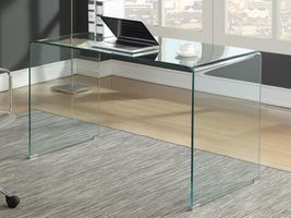 COASTER  CLEAR TEMPERED GLASS DESK