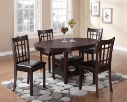 COASTER DINING EXPENDABLE 5PC SET (TBL+4SIDE) 102671-S5