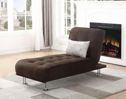 Coaster Furniture - 300277 - CHAISE SOFA BED (BROWN)