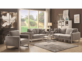 COASTER GREY FABRIC SOFA & LOVE SEAT 551241-S2