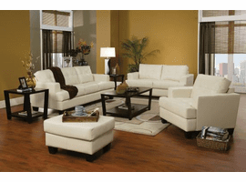 COASTER LIVING ROOM SET 3PC (SOFA + LOVE+ CHAIR) BLACK, RED OR WHITE