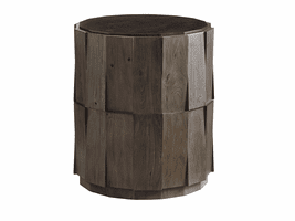 Cypress Point TH-562-951 Everett Round Travertine End Table