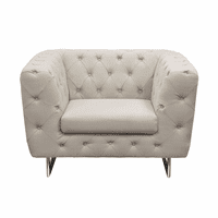Diamond Sofa Catalina Tufted Chair with Metal Leg in Sand Fabric