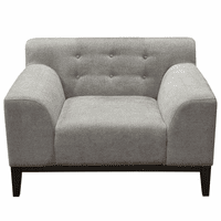 Diamond Sofa Marquee Tufted Back Chair in Moonstone Fabric with Accent Pillows
