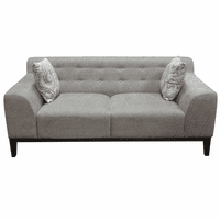 Diamond Sofa Marquee Tufted Back Loveseat in Moonstone Fabric with Accent Pillows