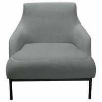 Diamond Sofa Melrose Chair in Mist Grey Fabric with Black Powder Coat Metal Legs