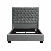 Diamond Sofa Park Avenue Queen Tufted Bed with Vintage Wing in Grey Linen