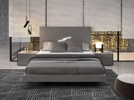 J & M Furniture Faro Queen Size Bed in Grey
