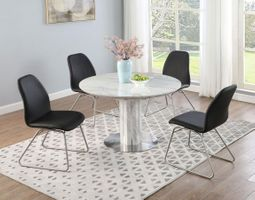 Chintaly Gretchen Marbleized Extendable Dining Table