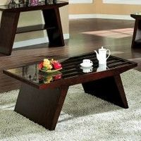 TAVIUS COFFEE TABLE CM4313C Walnut Finish