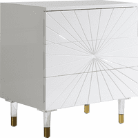 Meridian Furniture Starburst White Lacquer Side Table
