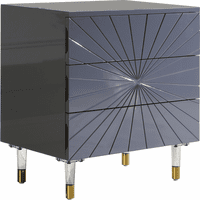 Meridian Furniture Starburst Grey Lacquer Side Table