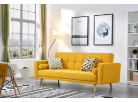 ESF 116 Sofa Bed Yellow OR GREY WITH PILLOWS