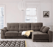 ESF Air Fabric Sectional with Sliding Seats SET