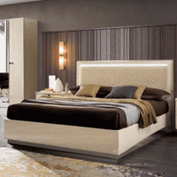 ESF Ambra Rombi Bed Queen Size with LED SET