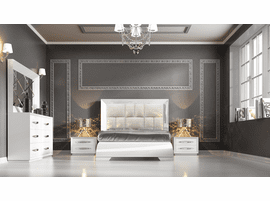 ESF Carmen White Bed Collection