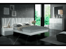 ESF Ronda Platform Bed Queen  Salvador With Led Lighted Headboard