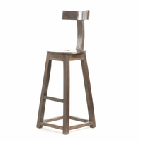 "Go Home 26"" Rustic Wooden Barstool"