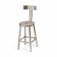"Go Home 26"" Seat Height Steel Finish Barstool"