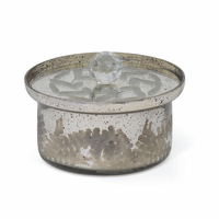 Go Home Andrew Antique Silver Medium Bowl with Lid