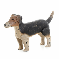Go Home Antique Painted Finish Jack Russell Dog
