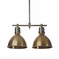 Go Home Double Brass Ceiling Light