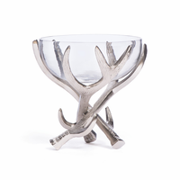 Go Home Glass Bowl On Antler Stand