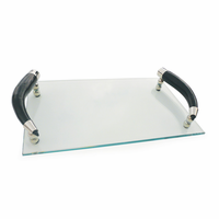 Go Home Glass Tray With Curved Horn Handles