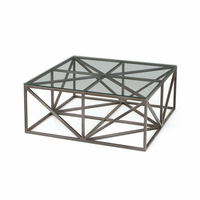 Go Home Hanover Glass Coffee Table