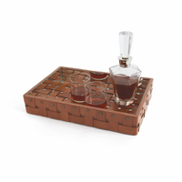 Go Home Illusion Leather Tray