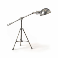 Go Home Industrial Finish Steel Tri-Pod Lamp