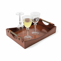 Go Home Leather Wave Tray