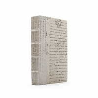 Go Home Linear Foot of Ivory Script Silver Leaf Books