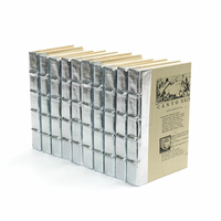 Go Home Linear Foot of Metallic Silver Books