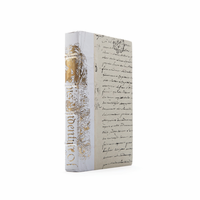 Go Home Linear Foot of White Bold Gold Leaf Books