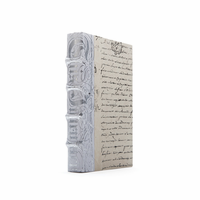 Go Home Linear Foot of White Bold Silver Leaf Books
