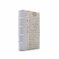 Go Home Linear Foot of White Script Silver Leaf Books